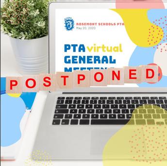 Postponed Rosemont PTA Virtual Meeting