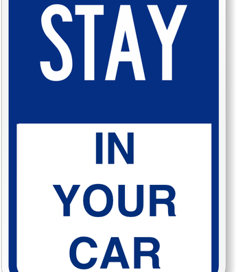Please remain in your vehicle during drop-off and pick-up.