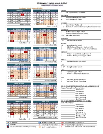 Now Available: The 2019-2020 CVUSD School Year Calendar