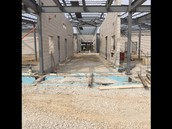 Construction phase of main entrance