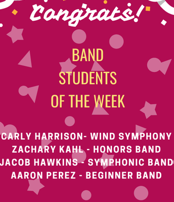 Band Students of the Week