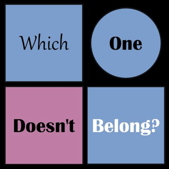 This is an image of the Which One Doesn't Belong icon and a link the Which One Doesn't Belong website.