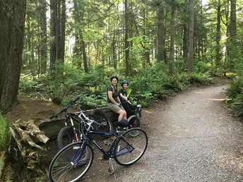 Logan and his family went for a bike ride!