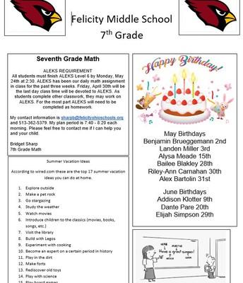 7th grade Page 2