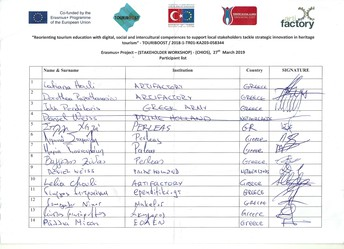 TOURiBOOST_GR_Stakeholder Workshop_Participant List Page_01