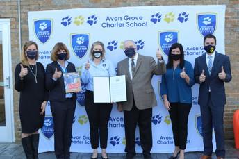Senator Andrew Dinniman bestows award to Avon Grove Charter School