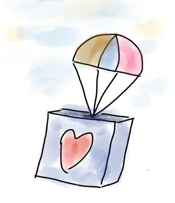 Escriba una nota de agradecimiento a un repartidor