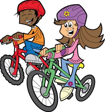 Biking to school is fun!                  ¡Ir en bicicleta a la escuela es divertido!