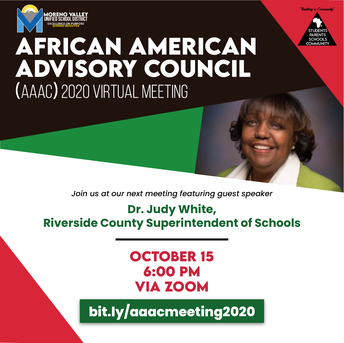 MVUSD  African American Advisory Council  Meetings!