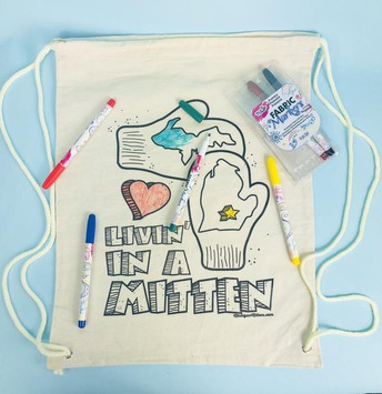 Color-on Canvas Backpack & Markers