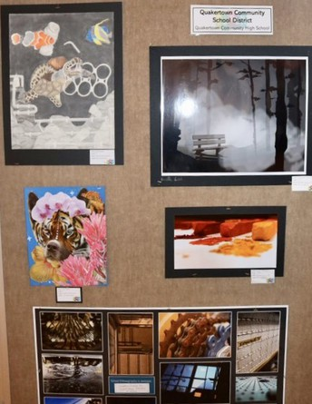 The work of 17 QCHS students displayed at county-wide exhibit