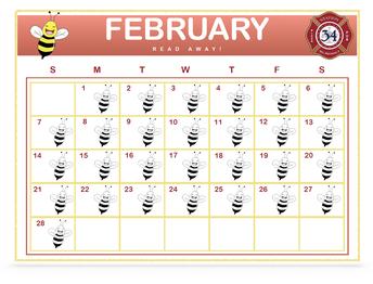 READ AWAY February Calendar