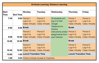 """Student Attendance in the """"At-Home"""" Learning  Model"""