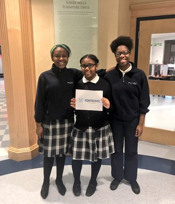 Congrats to 8th graders: Abigail, Daniela and Sarah on their acceptances to Fontbonne Academy!