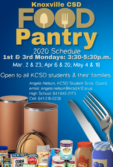 KCSD Food Pantry Information