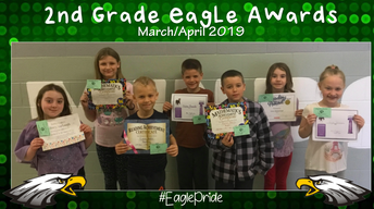 Second Grade March/April Awards