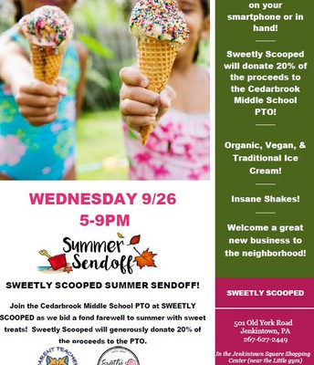 "Sweetly Scooped ""Summer Send-Off"" Fundraiser"