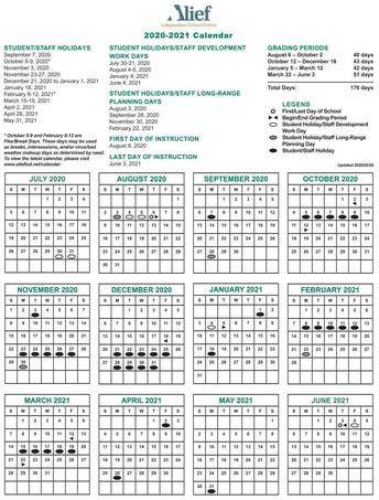 Alief Calendar