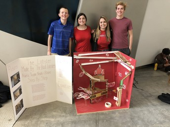 "3rd Place Overall:  ""The Bad Lobsters"" (Pictured L to R: Blake Arntzen, Adela Hadziric, Taylor Even, Noah Mable)"