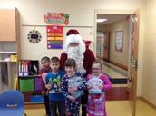 Santa Visits Mrs. Boyd's Class