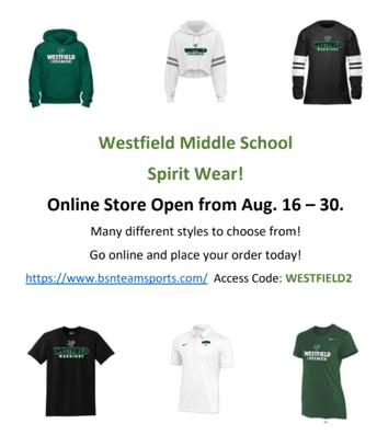Order Spirit Wear Today!