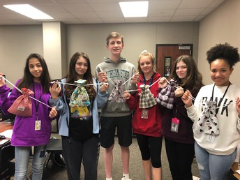 Mrs. McClelland Class of Principles of Human Services Students donate Beads of Courage Bags
