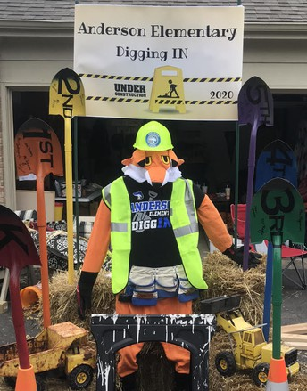 Scarecrow Stroll: VOTE FOR ANDERSON DIGGING IN!