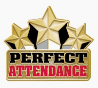 Attendance= 100% attendance no absences or tardies for the quarter