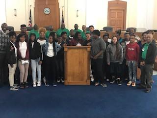 Ballard-Hudson's Leader's Program and FBLA Visits City Hall and the Tubman Museum