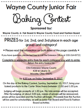 Jr. Fair Baked Goods Contest & Auction