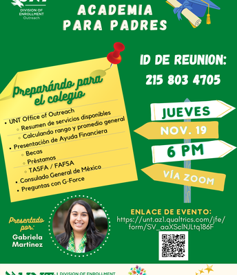 UNT Parent Academy - Spanish