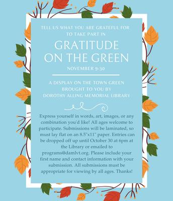 Gratitude on the Green