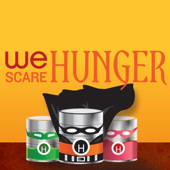 We Are Silent Campaign and We Scare Hunger Food Drive