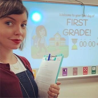 Mrs. Pierce ready for 1st Grade!
