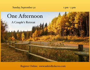 ONe afternoon.  a couple's retreat    -- SOLD OUT