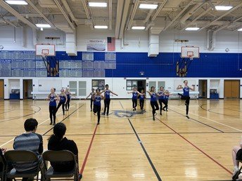 Millburn Dance Team Kicked off the Assembly today!