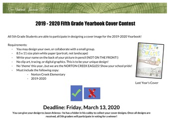 5th GRADE YEARBOOK CONTEST