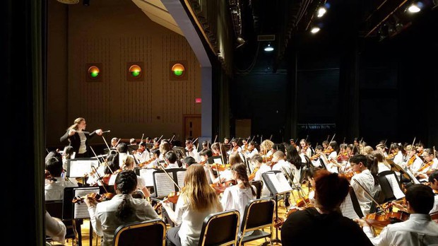 Novi Middle School Orchestra performing