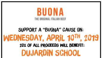 Buona Beef Fundraiser