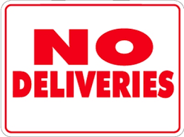 Reminder: No deliveries accepted at school
