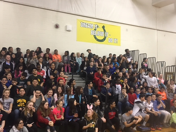 6th Graders enjoying the assembly