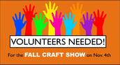 Craft Show Needs Volunteers