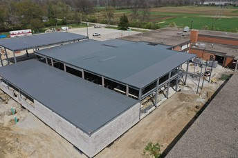 Aerial View of New Addition