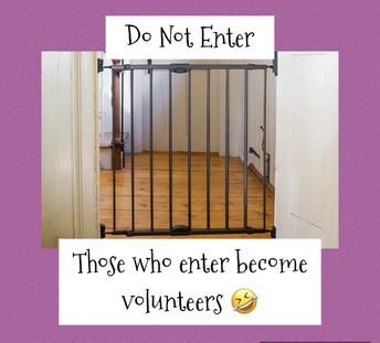 Please do not enter classrooms/nursery