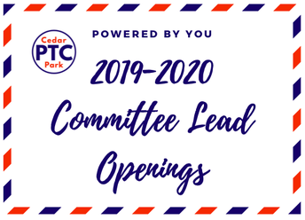 2019-2020 PTC Leadership Openings