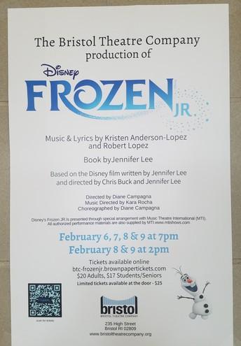 21. Bristol Theatre Co. presents Disney's Frozen Jr.