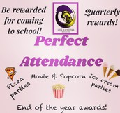 1st Quarter Perfect Attendance (Aug. 17 - Oct. 13, 2017)  🍕🍕