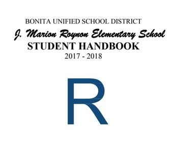 Roynon Student Handbook