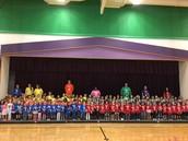 Davis Elementary School Kindergartners Take a Class Picture