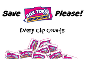 Reminder: Send in those Box Tops!